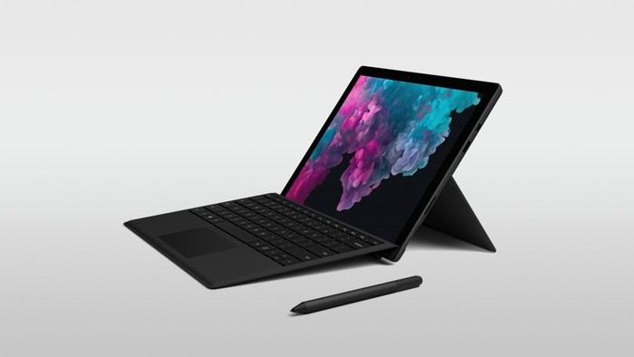 The Microsoft Surface Pro 6.