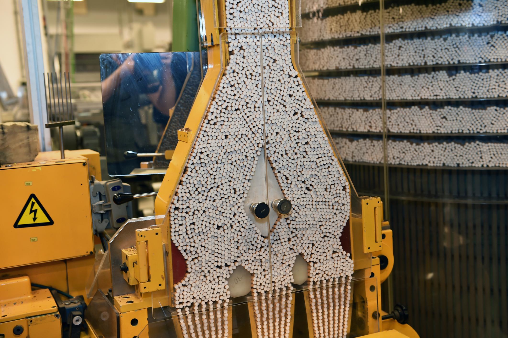 Cigarette production factory