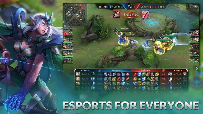 Tencent's Arena of Valor game with the words esports for everyone on the screen