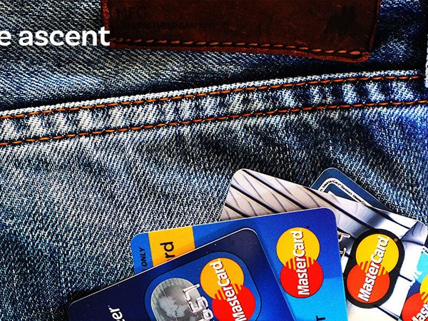 ascent credit cards with logo