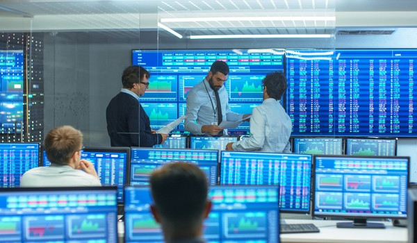 Workers on a Trading Floor