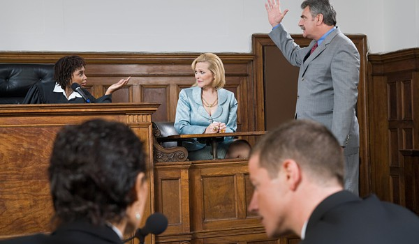 Lawyers arguing in court