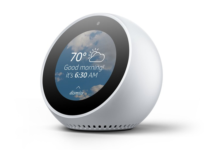 Amazon's Echo Spot alarm clock.