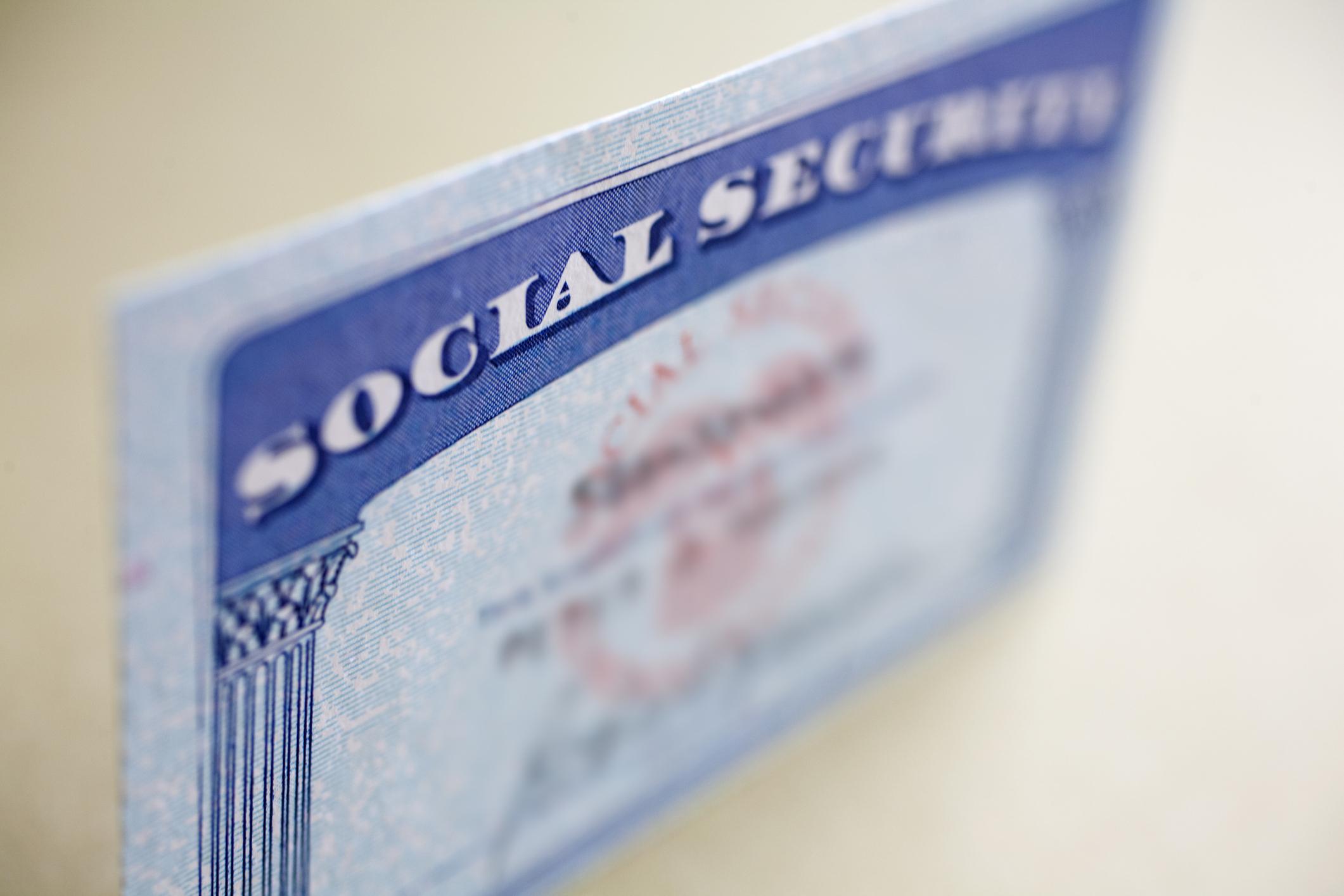 A Social Security card.