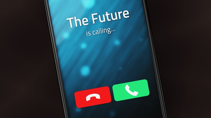 Incoming call from The Future on a smartphone.