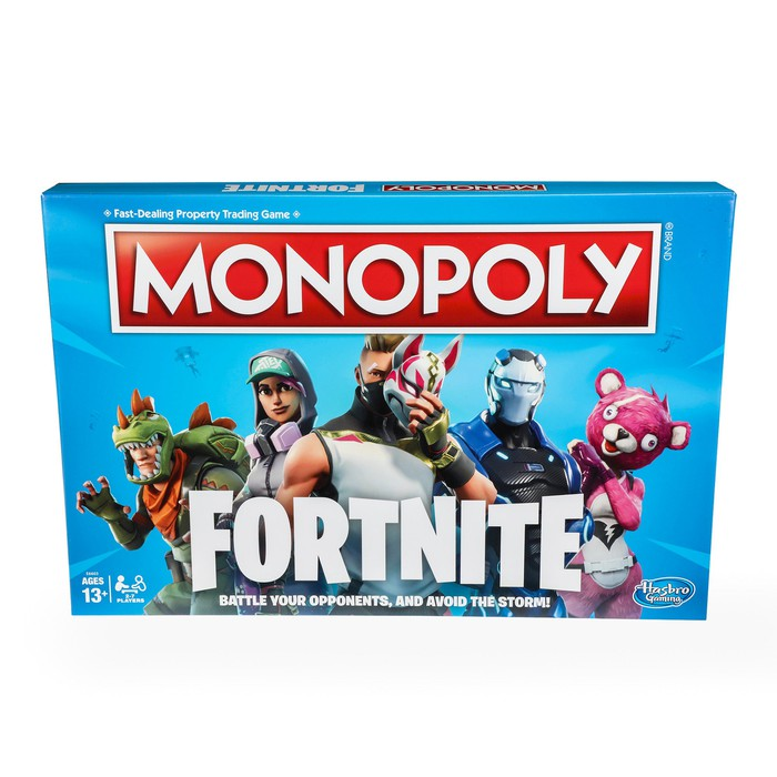 A Monopoly special edition based on the video game Fortnite.