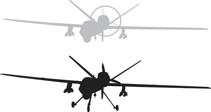 Two MQ-9 Reaper silhouettes.