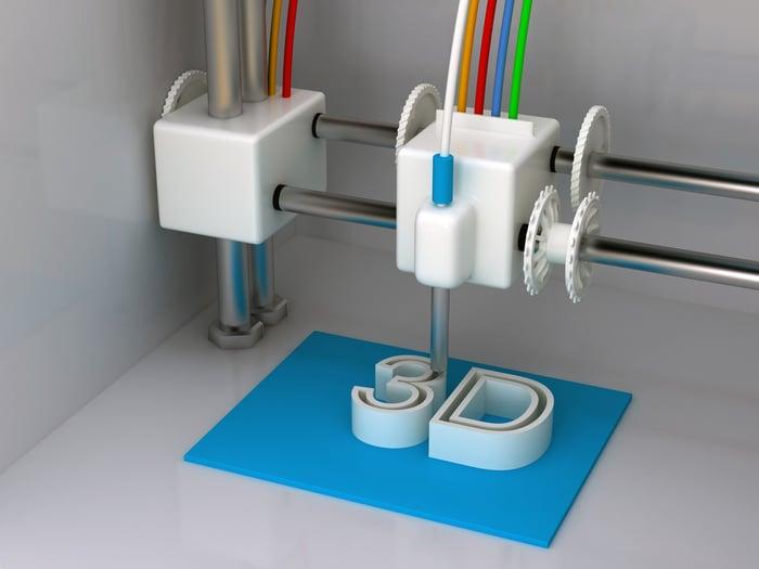 3D printer printing characters 3D