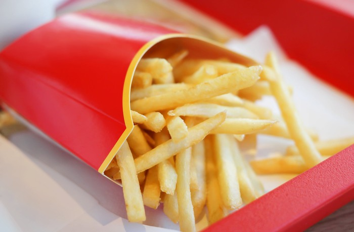 a box of fries from McDonald's.