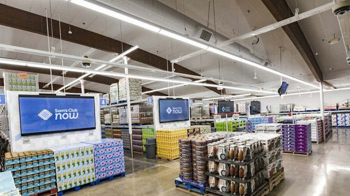 Inside the new Sam's Club Now location.
