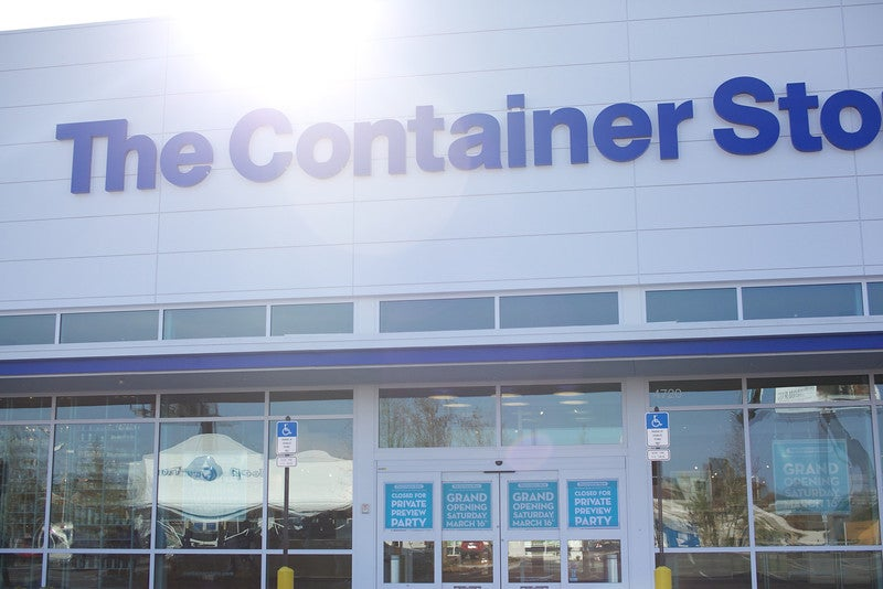 The entrance to a Container Store in Tampa