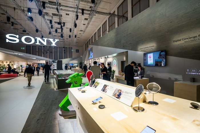 Sony's display at IFA 2018.