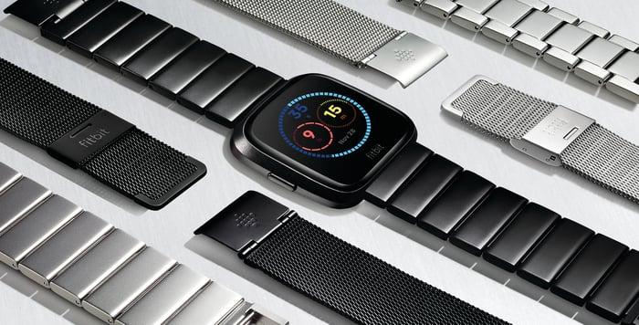 The Fitbit Versa.