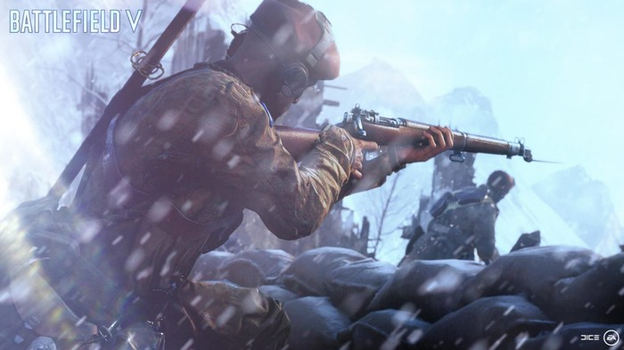 An image from Electronic Arts' new Battlefield V shooter game.