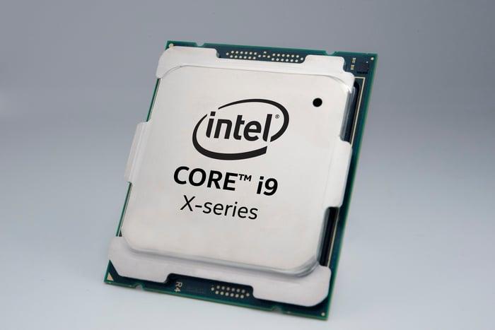 An Intel Core i9 processor.