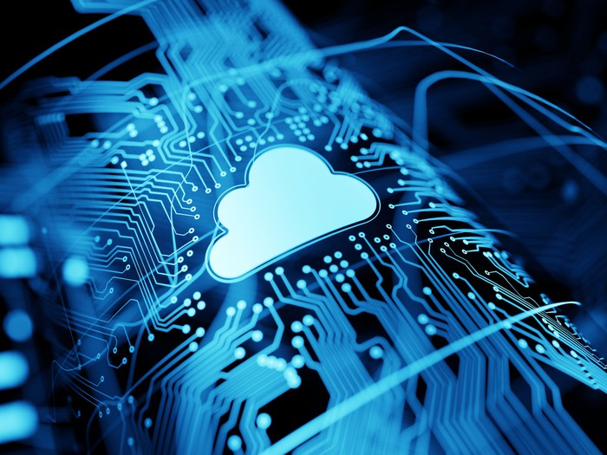 A cloud on a virtual circuit board.