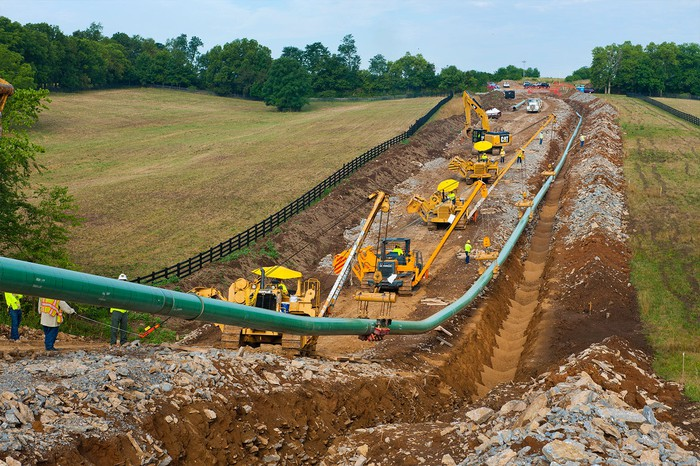 Pipeline under construction.