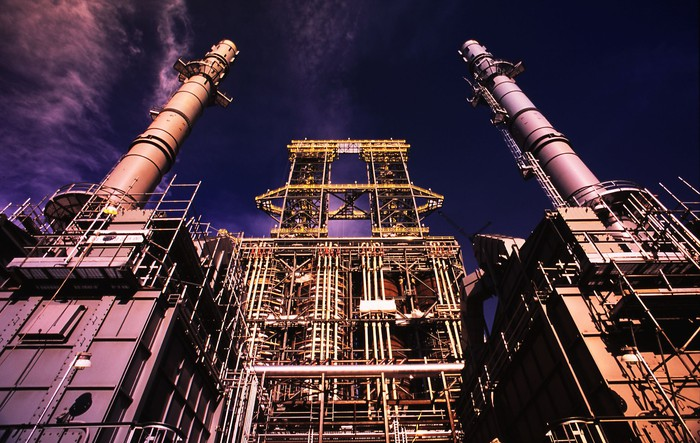 Oil sands upgrading facility.