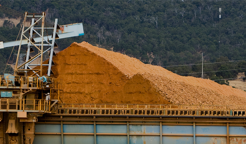 Bauxite production from Alcoa
