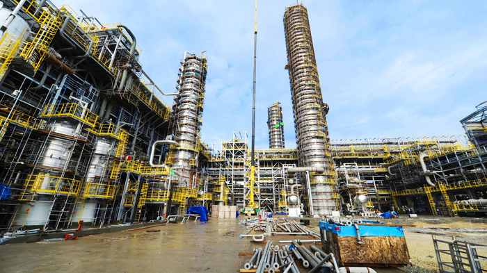 A polypropylene production complex in Russia.