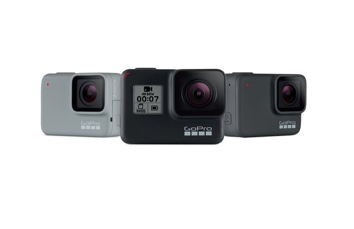GoPro's Hero7 lineup of cameras.