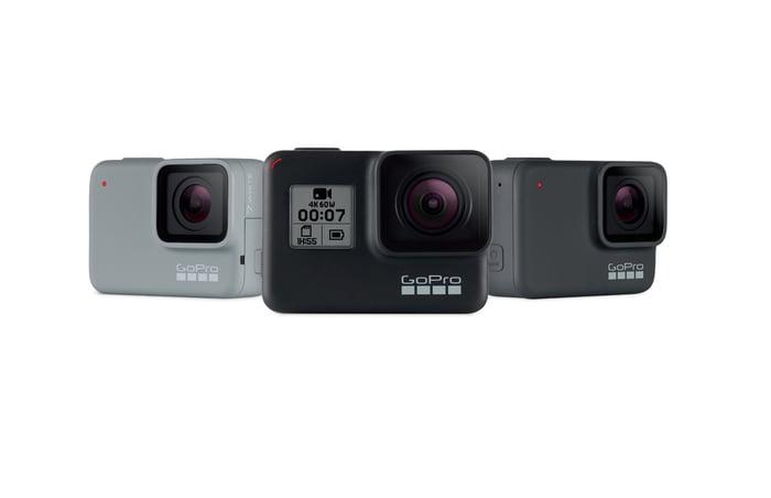 GoPro's Hero7 lineup of cameras.