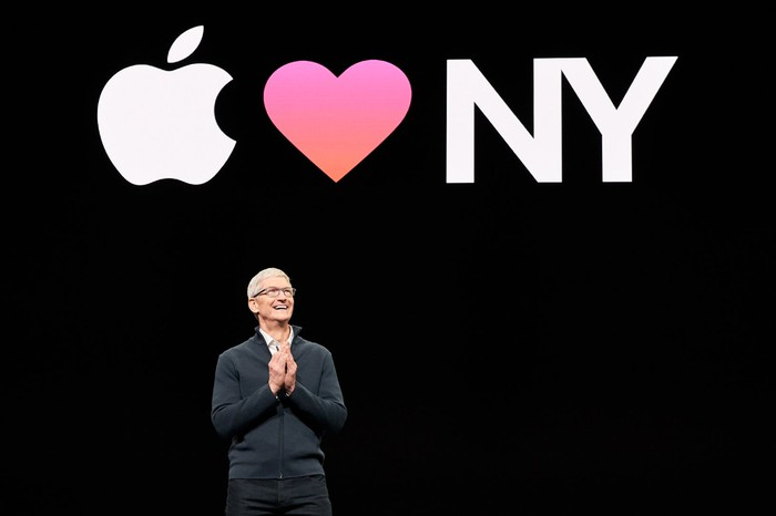 Apple CEO Tim Cook at Apple's October 2018 product event