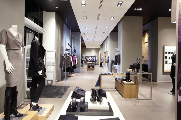 Premium apparel store with products displayed
