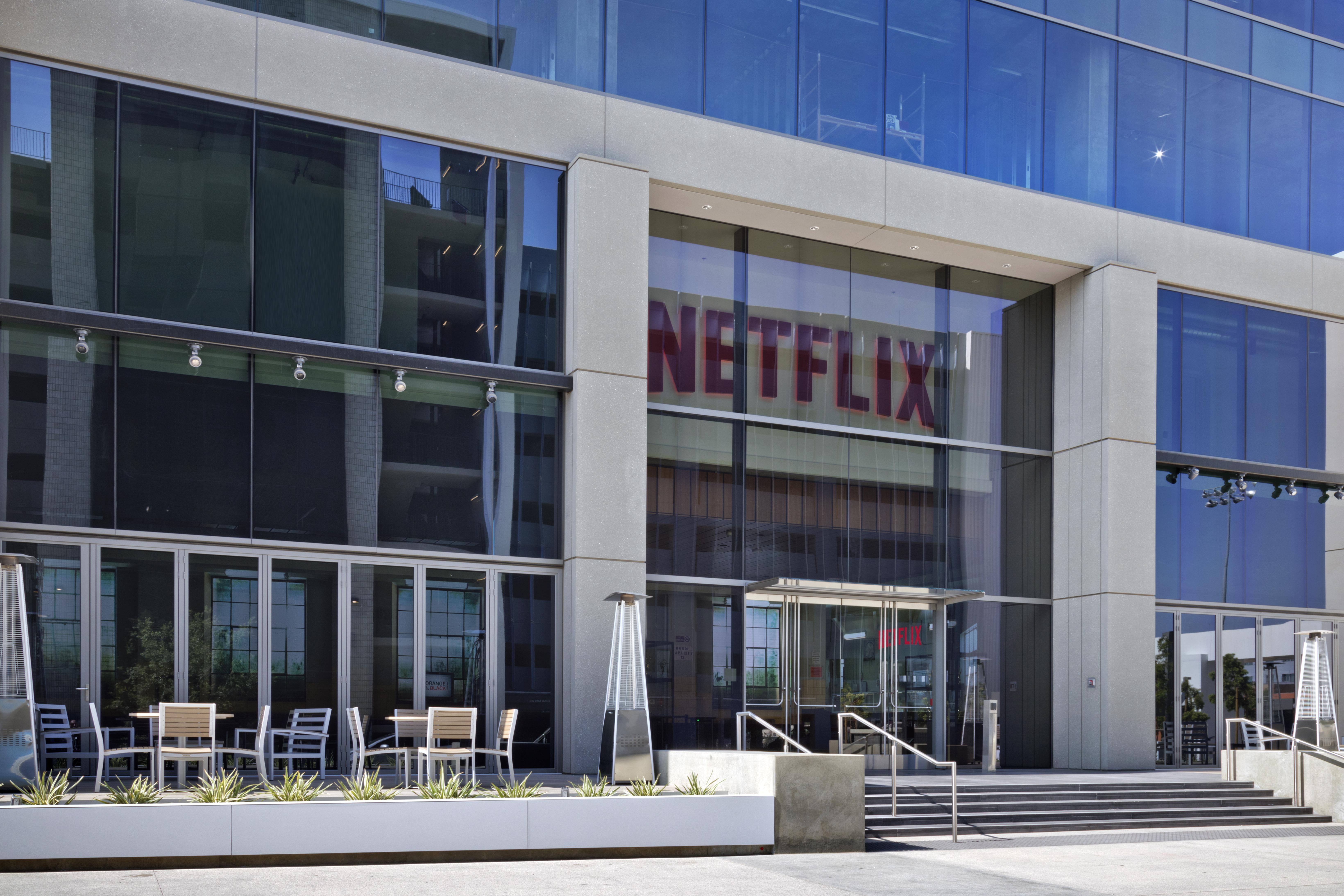 Exterior of Netflix's headquarters in Los Angeles
