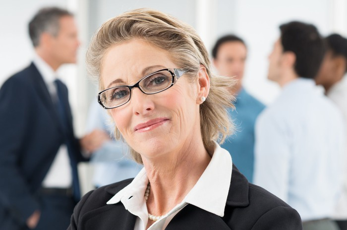 Mature businesswoman smiling