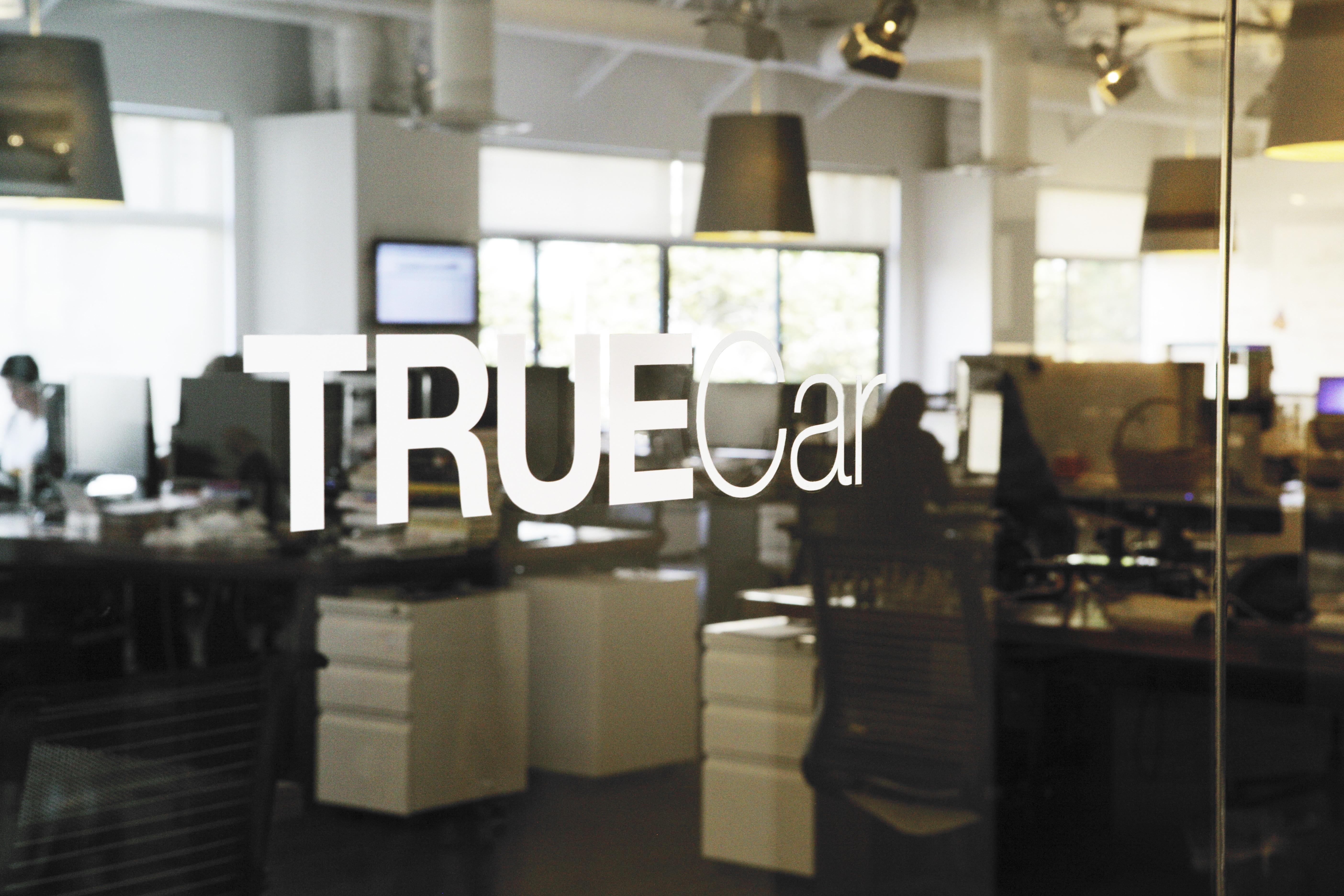 The entrance to TrueCar's headquarters in Santa Monica, California.