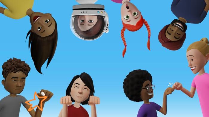 Facebook Spaces avatars.