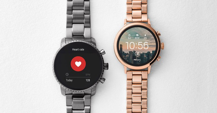 Two Fossil smartwatches