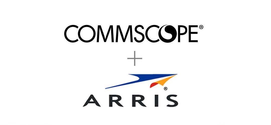 CommScope plus ARRIS logos