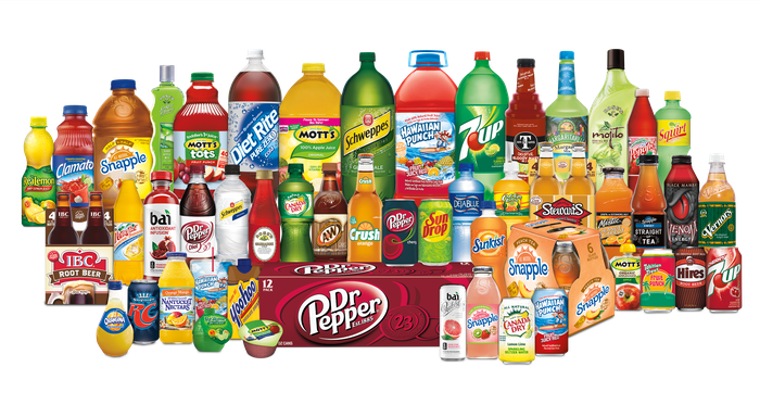 Some of the Keurig Dr Pepper brands