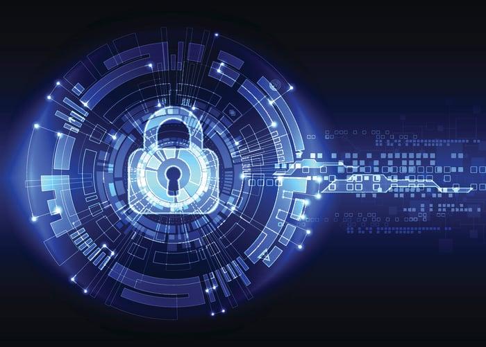 A digital illustration of a lock