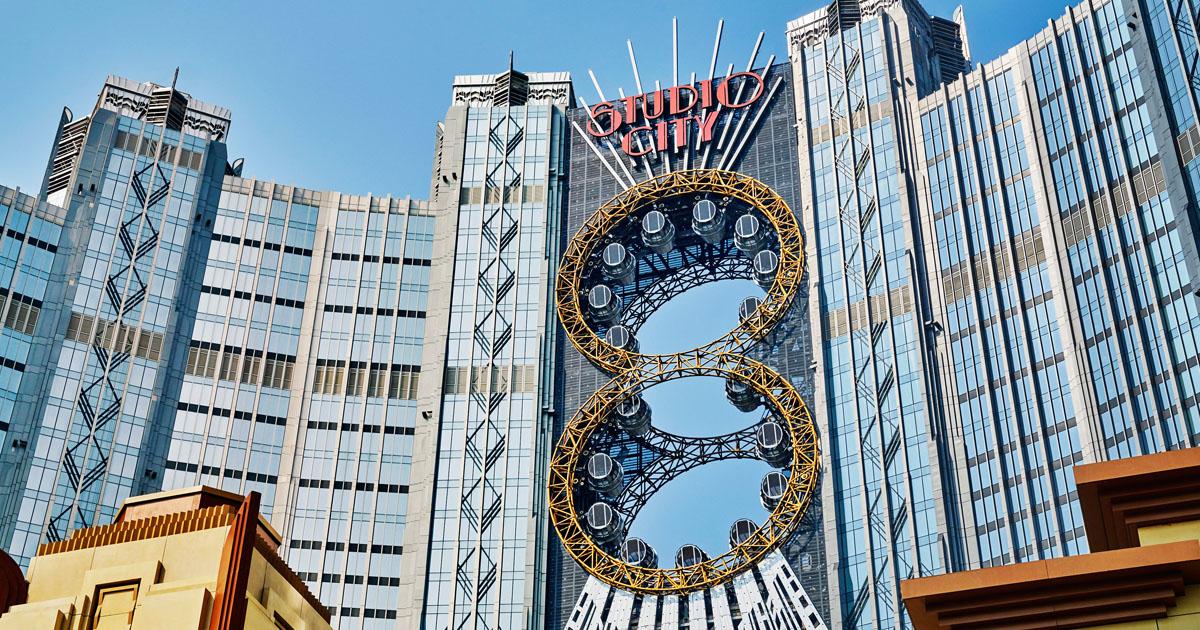 Studio City International's figure-eight rollercoaster