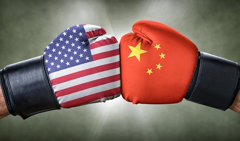 China US boxing gloves