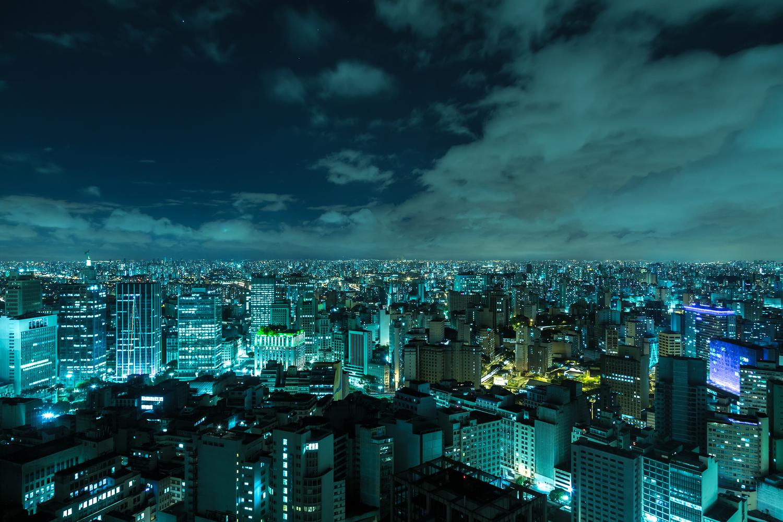Sao Paulo skyline at night.
