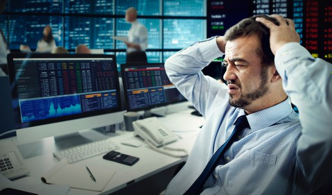 Stock Trader Losing Money Investment Growth Value Getty