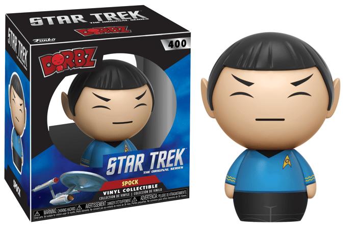 A Funko doll of Star Trek's Mr. Spock.