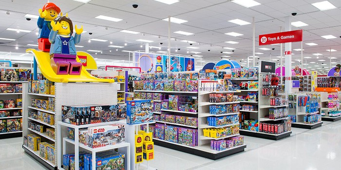 A remodeled toy department in Target