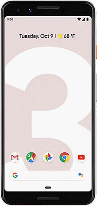 The Pixel 3 displayed in black.