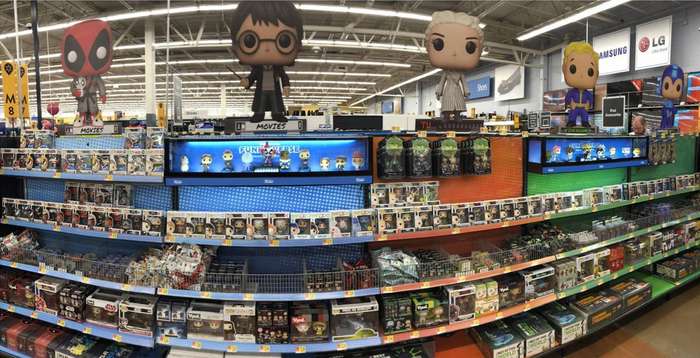 New expanded display of Funko products in a WalMart store.