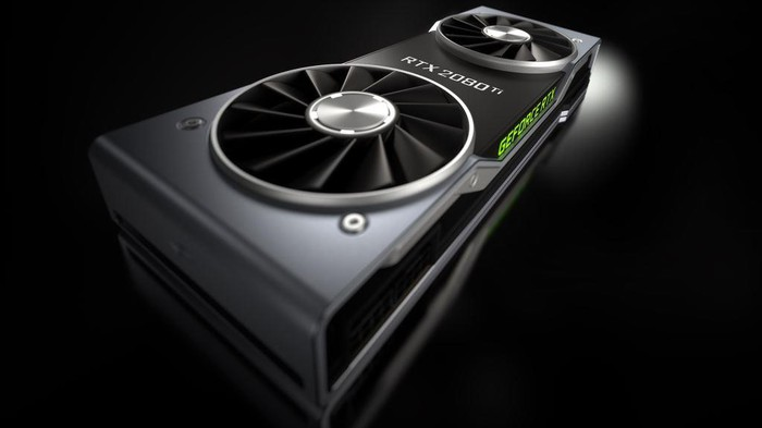 An NVIDIA RTX 2080 Ti graphics card.