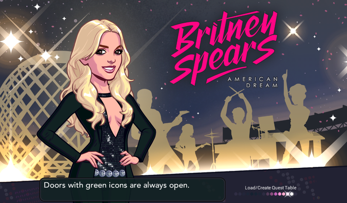 Cover are for Glu Mobile's Britney Spears mobile gaming app.