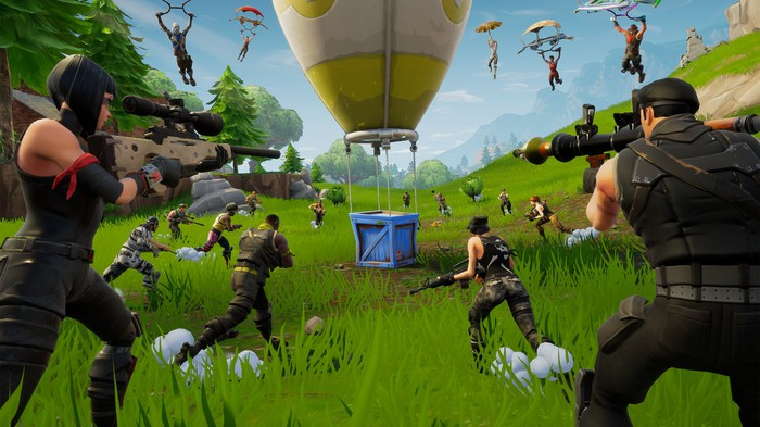 A screen shot from Epic Games' Fortnite.
