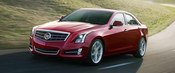 A red Cadillac ATS