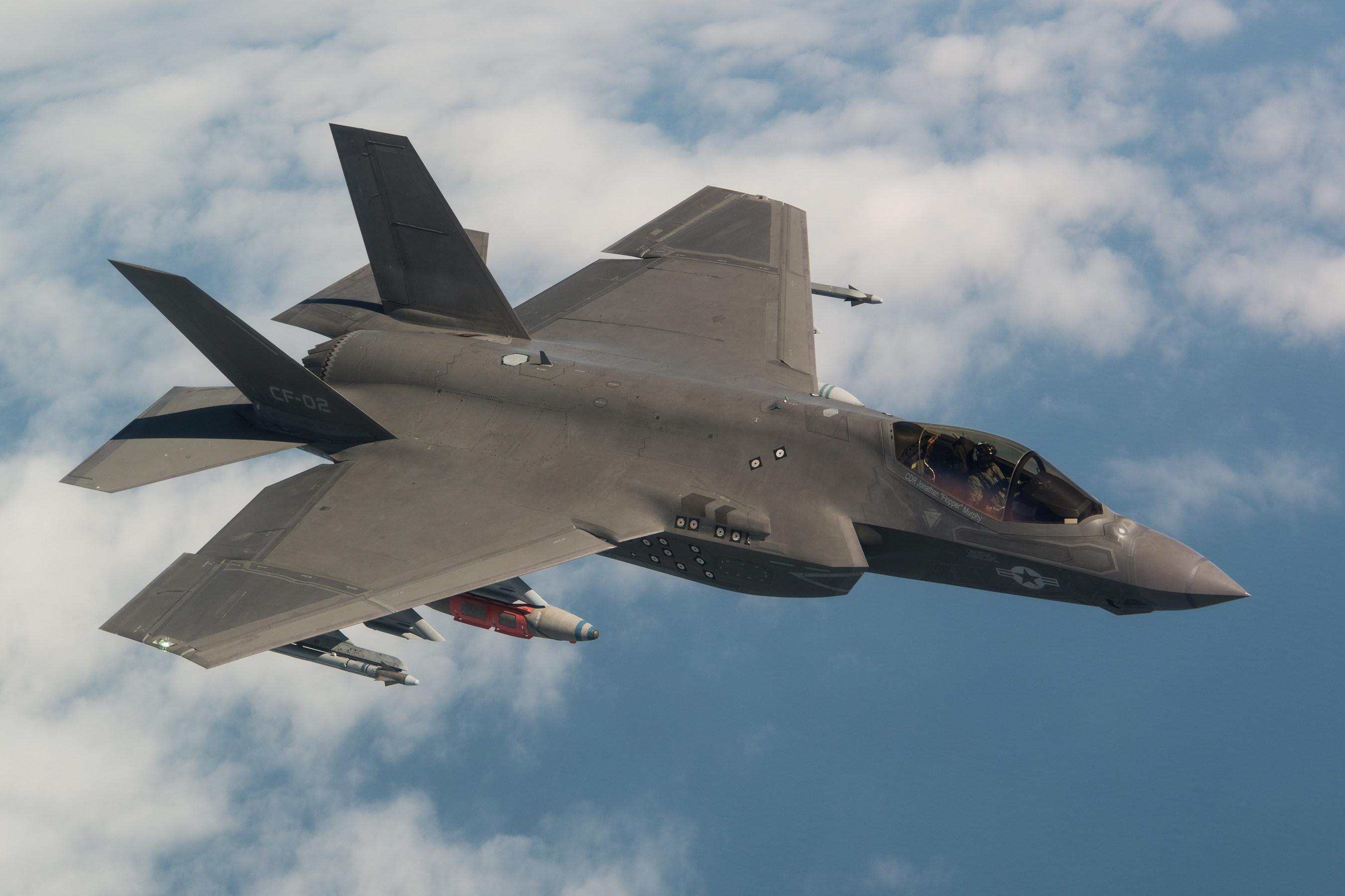 An airborne F-35