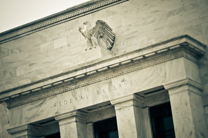 The exterior of the Federal Reserve building